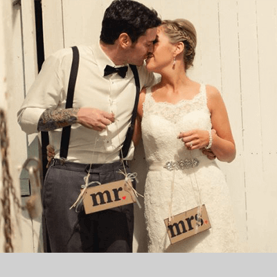 Grain House Wedding Couple