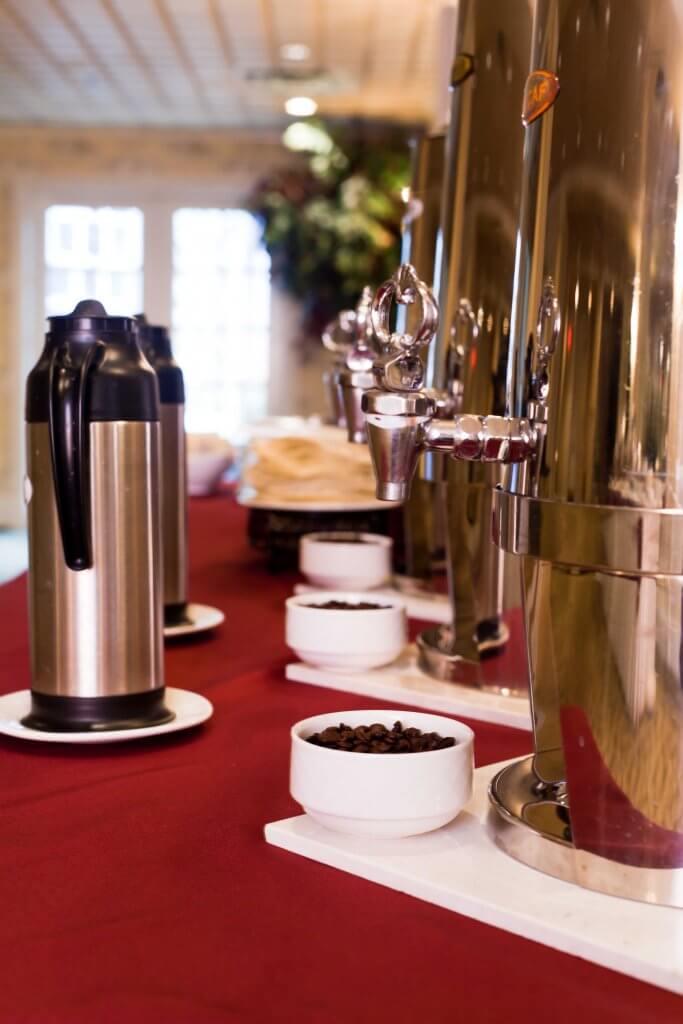 Coffee Setup in Fox & Hounds Atrium