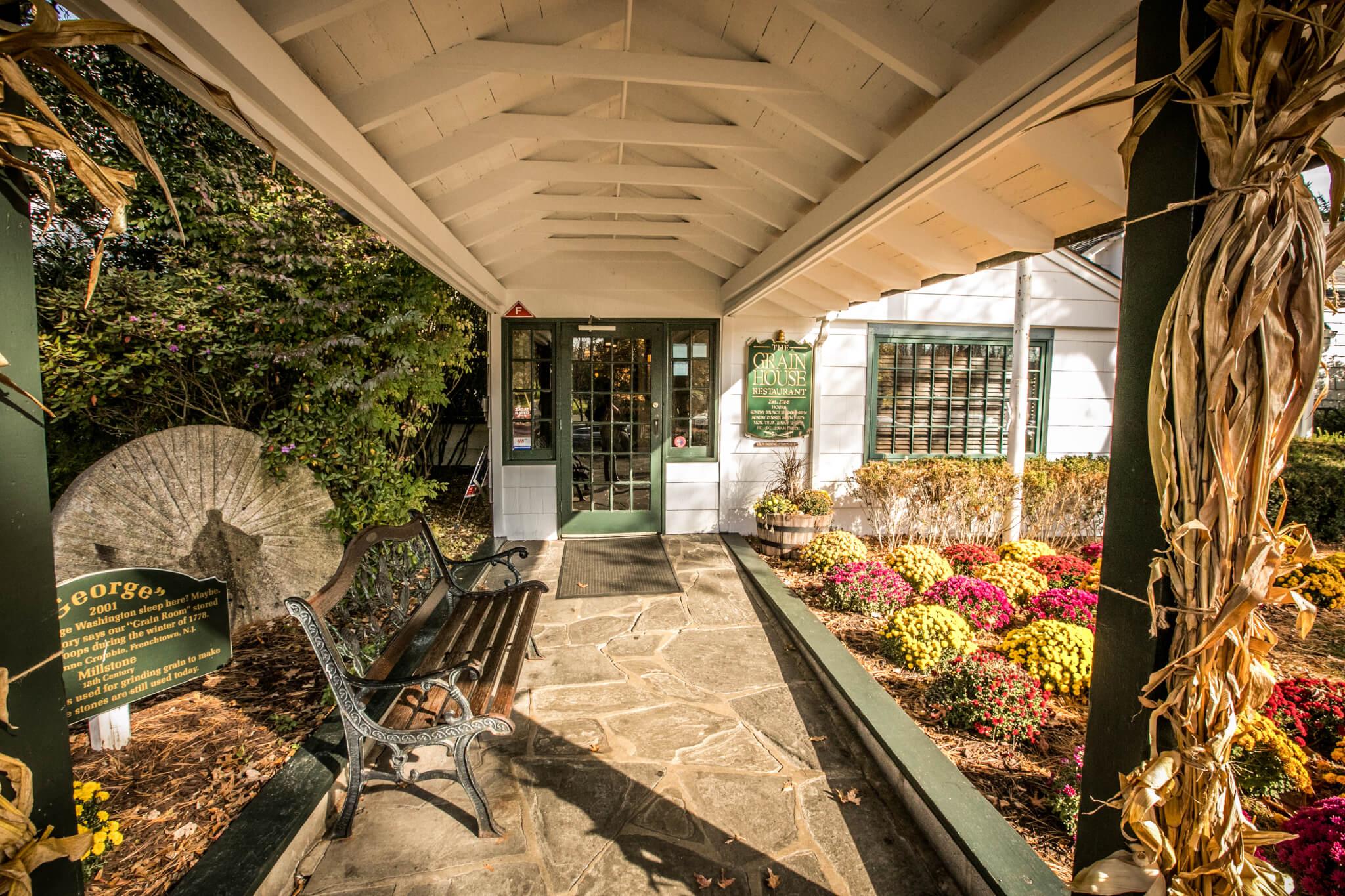 Grain House Side Entrance - The Olde Mill Inn & Grain House Restaurant
