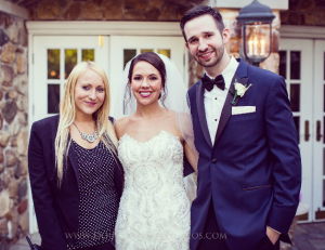 Amanda Virga with Bride & Groom